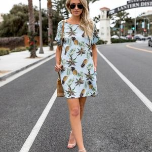 Pineapple Shift Dress